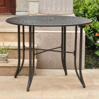 International Caravan Mandalay Iron 39 Inch Round Dining Table
