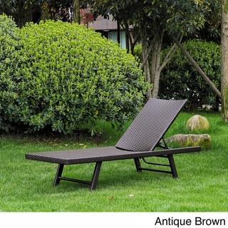 International Caravan Barbados Resin Wicker/ Aluminum Multi-position Chaise Lounge