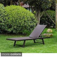 International Caravan Barbados Resin Wicker/ Aluminum Multi-position Chaise Lounge