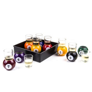 Pool Ball Shots Drinking Pool Game 10-piece Set