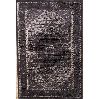 Linon Platinum Collection Heriz Grey Persian Modified Polyester Area Rug (2' x 3')