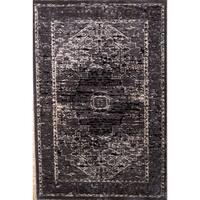 Linon Platinum Collection Heriz Grey Persian Modified Polyester Area Rug (2' x 3')