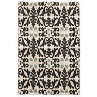 Linon Elegance Florence Ivory Rug (2' x 3') - 2' x 3'