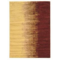 Linon Elegance Lave Red Rug (2' x 3')