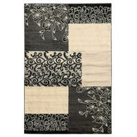 Linon Elegance Napa Patchwork Grey Rug (2' x 3')