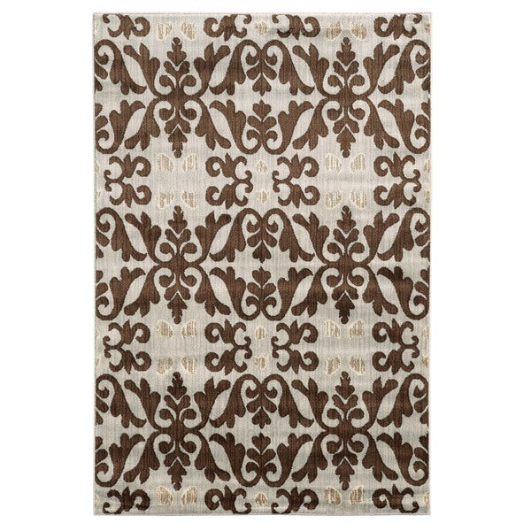 Linon Elegance Florence Ivory Rug (5' x 7'3-inch) - 5' x 7'3