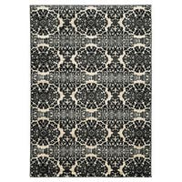 Linon Elegance Snowflakes Grey Rug (5' x 7'3-inch)