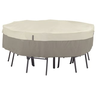 Classic Accessories Belltown Grey Round Patio Table/ Patio Chair Set Cover