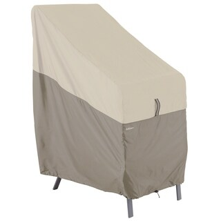 Classic Accessories Belltown Grey Stackable Patio Chair Cover