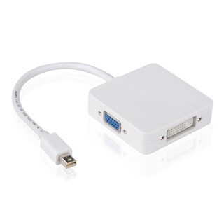 3-in-1 Mini DisplayPort to DVI/ VGA/ HDMI Adapter cable for Apple MacBook Devices