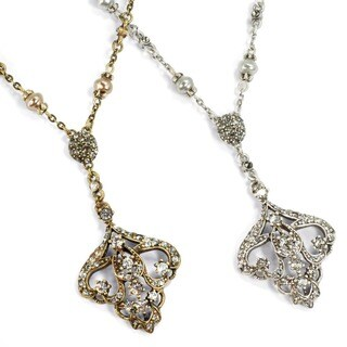 Sweet Romance Art Deco Vintage Arabesque Wedding Necklace