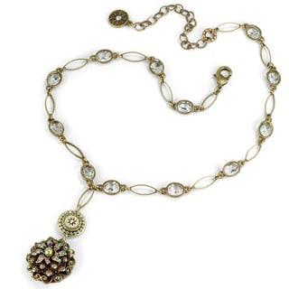 Sweet Romance Sea Urchin Beach Boho Crystal Necklace