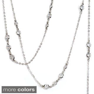 Sweet Romance Cubic Zirconia Diamond Layering Necklace