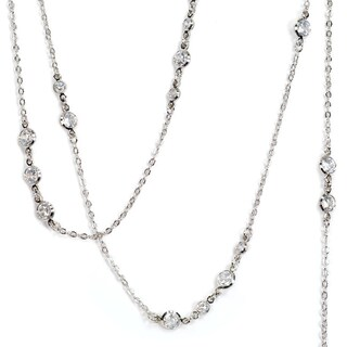 Sweet Romance Cubic Zirconia Diamond Layering Necklace (Option: Black - Black)