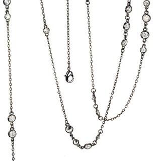 Sweet Romance Cubic Zirconia Diamonds By The Yard Layering Necklace