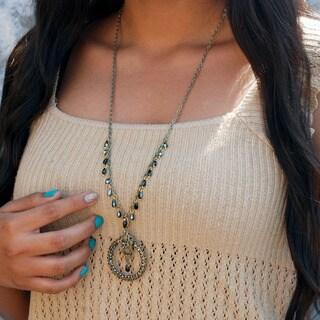 Sweet Romance Beaded Bohemian Circle Pendant Necklace