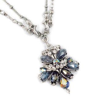 Sweet Romance Vintage Victorian Fan Black Jet Victorian Necklace (Option: Brown)