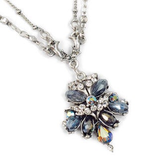 Sweet Romance Vintage Victorian Fan Black Jet Victorian Necklace