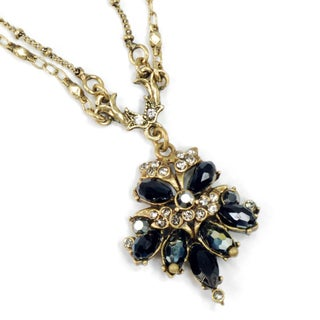 Sweet Romance Vintage Victorian Fan Black Jet Victorian Necklace (Option: Black - Brown)