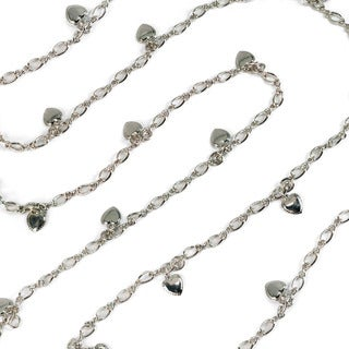 Sweet Romance Delicate Chain and Heart Charm Long Necklace