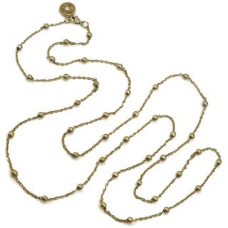 Sweet Romance Delicate Chain and Ball Station Layering Necklace