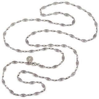 Sweet Romance Filigree Long Layering Chain Necklace