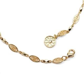 Sweet Romance Filigree Long Layering Chain Necklace
