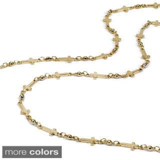 Sweet Romance Delicate Cross And Bead Chain Layering Necklace|https://ak1.ostkcdn.com/images/products/10163081/P17291786.jpg?impolicy=medium