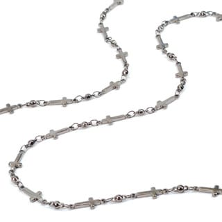 Sweet Romance Delicate Cross And Bead Chain Layering Necklace