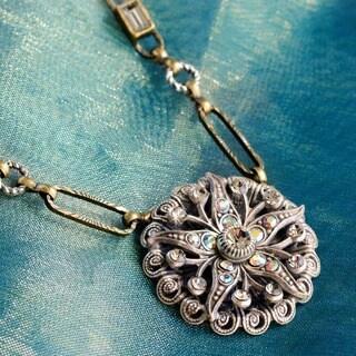 Sweet Romance Art Deco Starfish Silver Boho Pendant Necklace