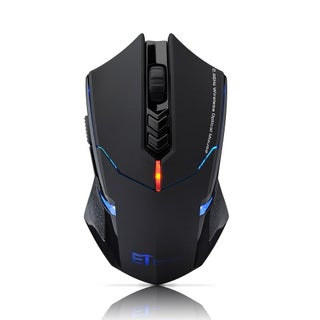 2.4G Wireless 7-button Gaming Mouse with 800, 1200, 1600, 2000, 2400 Adjustable DPI, LED Backlight, and Quiet Button Design