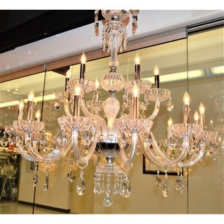 Carnivale Collection 18-light Chrome Finish and Clear Crystal 2-tier Chandelier