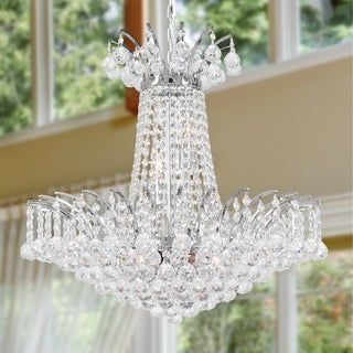 Majestic 8-light Chrome Finish and Clear Crystal 19-inch Wide French Empire Chandelier