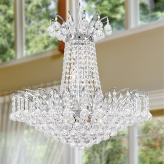 Light Chrome Finish And Clear Crystal 24 Inch French Empire Chandelier