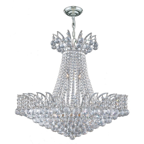 French Empire 11light Chrome Finish and Clear Crystal 24inch – French Empire Chandelier