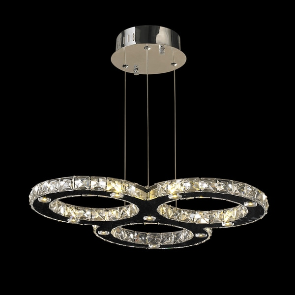 Galaxy Light Led Crystal Chandelier Chrome