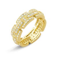 Goldplated Micropave Cubic Zirconia Ring