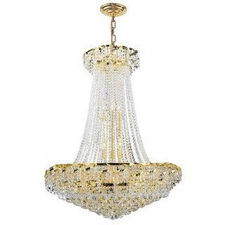 French Empire 18-light Gold Finish and Clear Crystal Chandelier