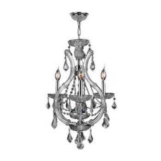 Lyre Collection 4-light Chrome Finish and Clear Crystal Chandelier