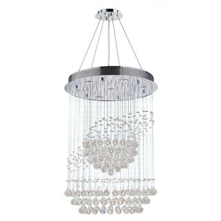 Saturn Collection 7-light Chrome Finish Clear Crystal Galaxy Suspension Chandelier
