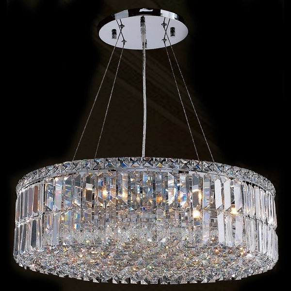 shop cascade collection 12 light chrome finish with clear crystal