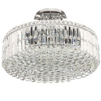 Cascade Collection 12-light Chrome Finish with Clear Crystal Chandelier