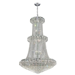Majestic 32-light Chrome Finish and Clear Crystal French Empire 2-tier Chandelier