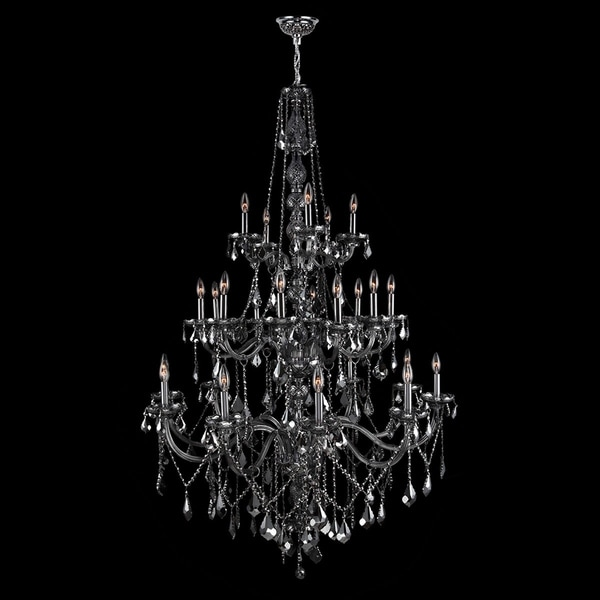 Provence collection 25 light chrome finish and smoke crystal provence collection 25 light chrome finish and smoke crystal chandelier aloadofball Image collections