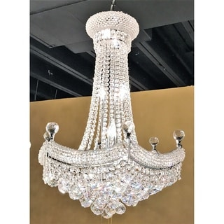 French Empire 15-light Chrome Finish with Clear Crystal Chandelier