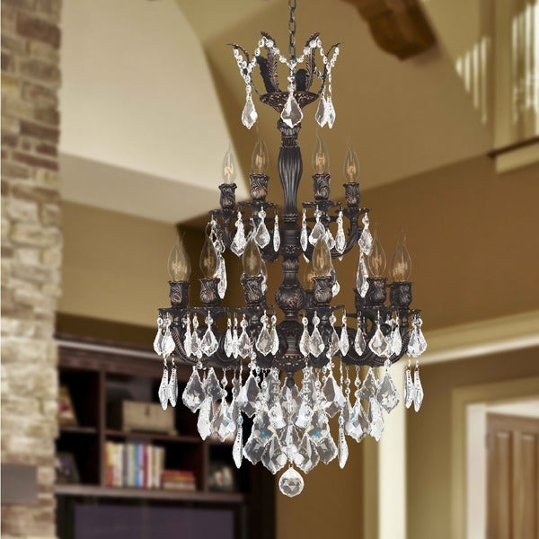 Versailles collection 18 light flemish brass finish and clear versailles collection 18 light flemish brass finish and clear crystal chandelier aloadofball Image collections