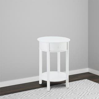 Ameriwood Home Tipton White Round End Table|https://ak1.ostkcdn.com/images/products/10163309/P17291980.jpg?impolicy=medium