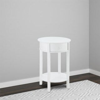 Avenue Greene Adams White Wood Round End Table
