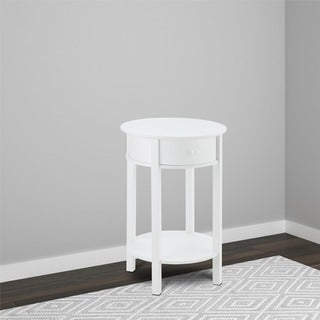 Avenue Greene Adams White Round End Table