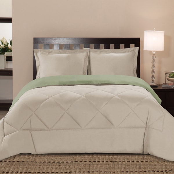 Reversible All Season  Down Alternative 3-piece Comforter Set